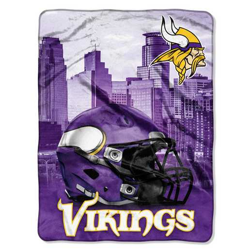 1NFL071030023RET: NW NFL HERITAGE SILK THROW, VIKINGS